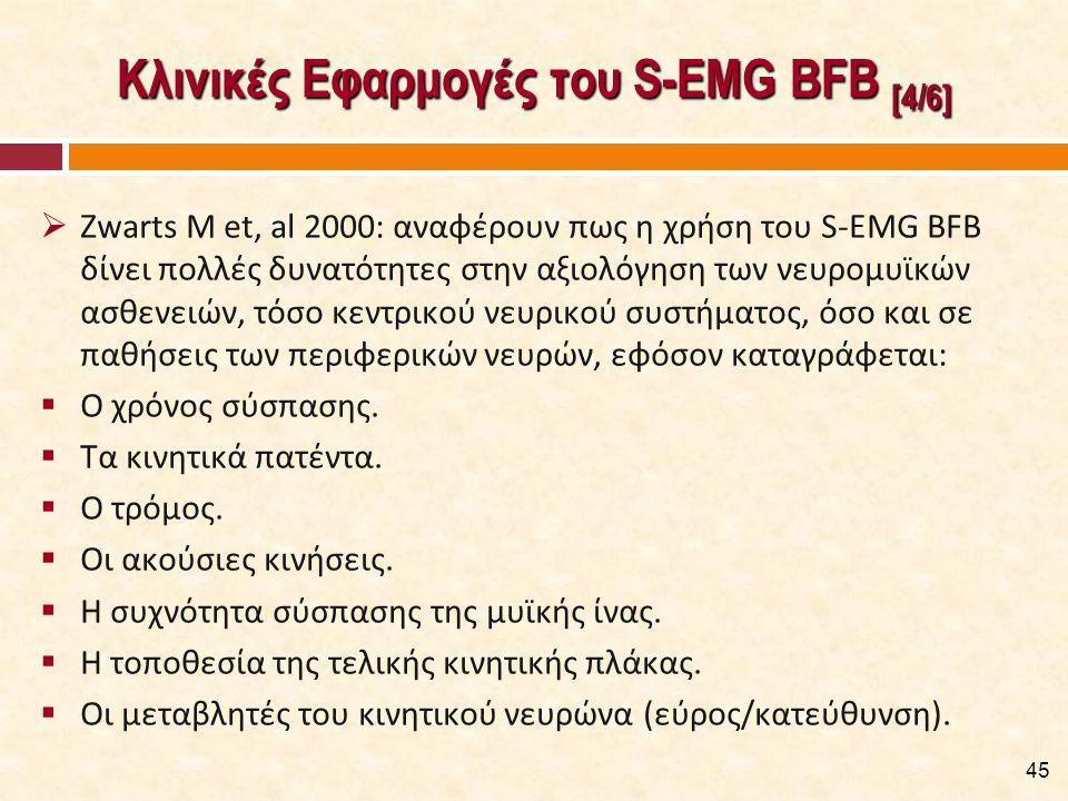 Κλινικές Εφαρμογές του S-EMG BFB [5/6]